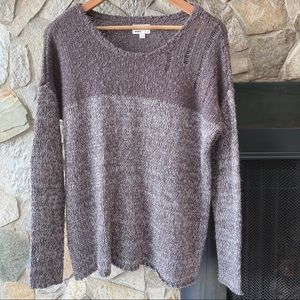 RVCA Two Tone Distressed Sweater